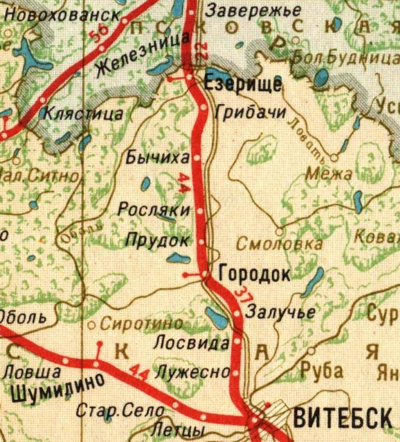 Участок Сущево - Витебск